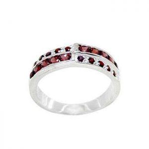 1.50ctw Genuine Garnet Solid 925 Sterling Silver Gemstone Ring (SJR1001)