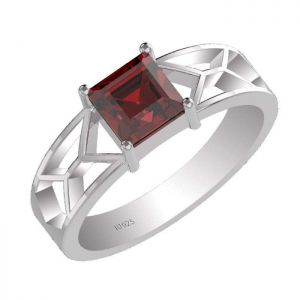 1.15ctw Genuine Garnet Solid 925 Sterling Silver Gemstone Ring (SJR1002)