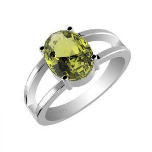 2.15ctw Genuine Peridot Solid 925 Sterling Silver Gemstone Ring (SJR1004)
