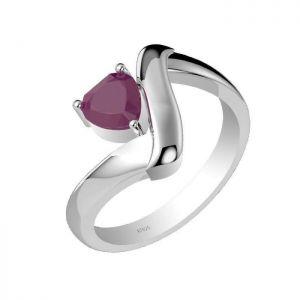 1.00ctw Genuine Ruby Solid 925 Sterling Silver Gemstone Ring (SJR1007)