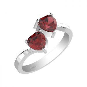 2.00ctw Genuine Garnet Solid 925 Sterling Silver Gemstone Ring (SJR1009)