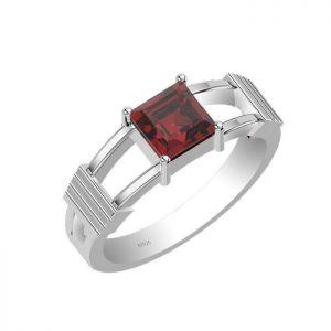 1.15ctw Genuine Garnet Solid 925 Sterling Silver Gemstone Ring (SJR1013)