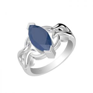 1.25ctw Genuine Sapphire Solid 925 Sterling Silver Gemstone Ring (SJR1015)