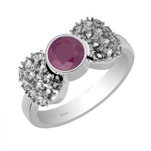 1.00ctw Genuine Ruby Solid 925 Sterling Silver Gemstone Ring (SJR1020)