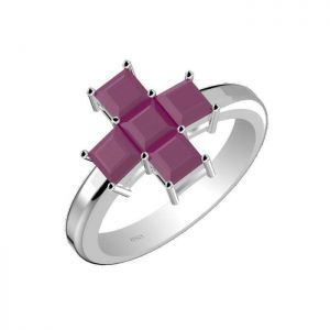 2.25ctw Genuine Ruby Solid 925 Sterling Silver Gemstone Ring (SJR1025)