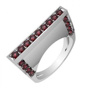 0.85ctw Genuine Garnet Solid 925 Sterling Silver Gemstone Ring (SJR1027)