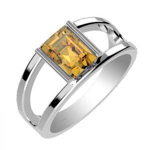 1.70ctw Genuine Citrine Solid 925 Sterling Silver Gemstone Ring (SJR1030)
