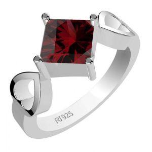 1.15ctw Genuine Garnet Solid 925 Sterling Silver Gemstone Ring (SJR1037)