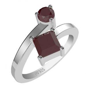 1.25ctw Genuine Ruby Solid 925 Sterling Silver Gemstone Ring (SJR1045)