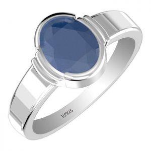 2.15ctw Genuine Sapphire Solid 925 Sterling Silver Gemstone Ring (SJR1059)