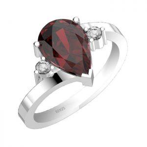 4.50ctw Genuine Garnet Solid 925 Sterling Silver Gemstone Ring (SJR1065)