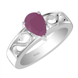 1.45ctw Genuine Ruby Solid 925 Sterling Silver Gemstone Ring (SJR1067)