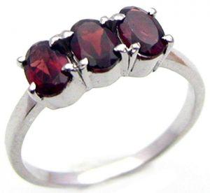 1.65ctw Genuine Garnet Solid 925 Sterling Silver Gemstone Ring (SJR1071)