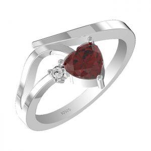 1.00ctw Genuine Garnet Solid 925 Sterling Silver Gemstone Ring (SJR1073)