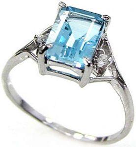 1.70ctw Genuine Swiss Blue Topaz Solid 925 Sterling Silver Gemstone Ring (SJR1076)