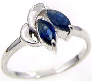 0.70ctw Genuine Sapphire Solid 925 Sterling Silver Gemstone Ring (SJR1077)