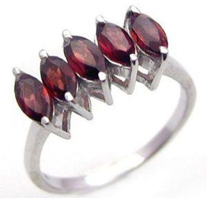 1.75ctw Genuine Garnet Solid 925 Sterling Silver Gemstone Ring (SJR1080)