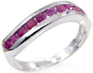 0.90ctw Genuine Ruby Solid 925 Sterling Silver Gemstone Ring (SJR1083)