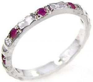 1.20ctw Genuine Ruby Solid 925 Sterling Silver Gemstone Ring (SJR1084)