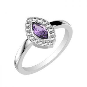 0.35ctw Genuine Amethyst Solid 925 Sterling Silver Gemstone Ring (SJR1085)