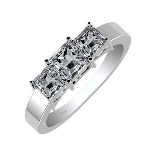 1.75ctw Genuine Aquamarine Solid 925 Sterling Silver Gemstone Ring (SJR1092)