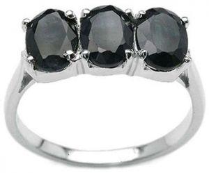 2.70ctw Genuine Sapphire Solid 925 Sterling Silver Gemstone Ring (SJR1094)