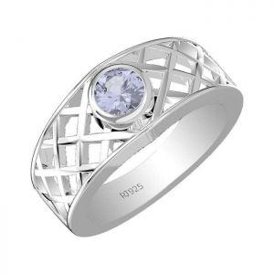 0.60ctw Genuine Tanzanite Solid 925 Sterling Silver Gemstone Ring (SJR1098)