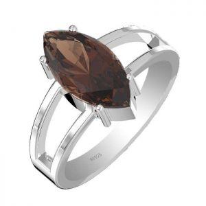 3.50ctw Genuine Smoky Quartz Solid 925 Sterling Silver Gemstone Ring (SJR10105)