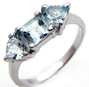 2.05ctw Genuine Sky Blue Topaz Solid 925 Sterling Silver Gemstone Ring (SJR10112)