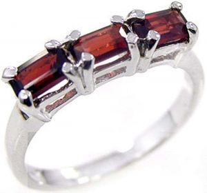 1.20ctw Genuine Garnet Solid 925 Sterling Silver Gemstone Ring (SJR10116)