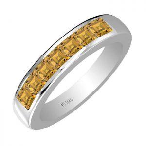 1.50ctw Genuine Citrine Solid 925 Sterling Silver Gemstone Ring (SJR10127)