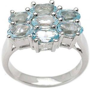 2.45ctw Genuine Sky Blue Topaz Solid 925 Sterling Silver Gemstone Ring (SJR10129)