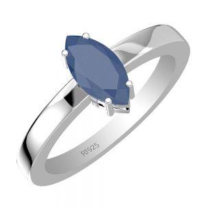 0.65ctw Genuine Sapphire Solid 925 Sterling Silver Gemstone Ring (SJR10133)