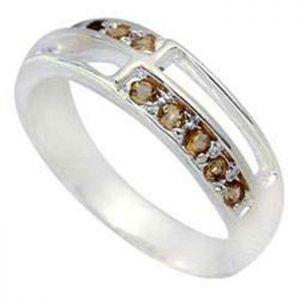 0.50ctw Genuine Citrine Solid 925 Sterling Silver Gemstone Ring (SJR10149)
