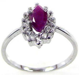 0.35ctw Genuine Ruby Solid 925 Sterling Silver Gemstone Ring (SJR10150)