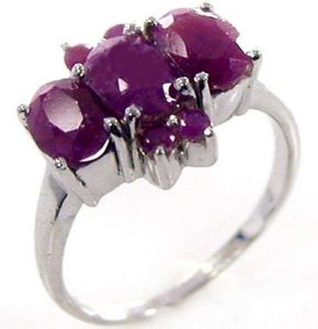 1.65ctw Genuine Ruby Solid 925 Sterling Silver Gemstone Ring (SJR10153)