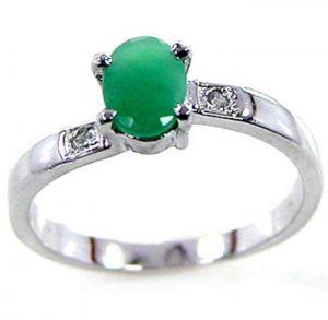 0.90ctw Genuine Emerald Solid 925 Sterling Silver Gemstone Ring (SJR10162)
