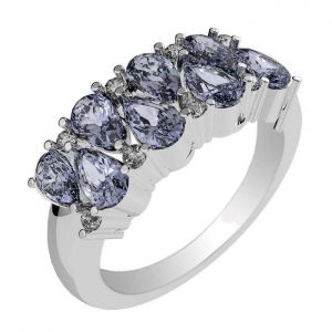2.80ctw Genuine Tanzanite Solid 925 Sterling Silver Gemstone Ring (SJR10182)