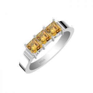 1.35ctw Genuine Citrine Solid 925 Sterling Silver Gemstone Ring (SJR10185)
