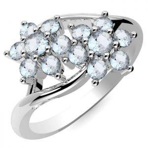 0.70ctw Genuine Aquamarine Solid 925 Sterling Silver Gemstone Ring (SJR10192)