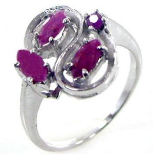 1.40ctw Genuine Ruby Solid 925 Sterling Silver Gemstone Ring (SJR10195)