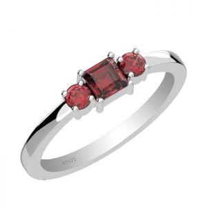1.15ctw Genuine Garnet Solid 925 Sterling Silver Gemstone Ring (SJR10208)