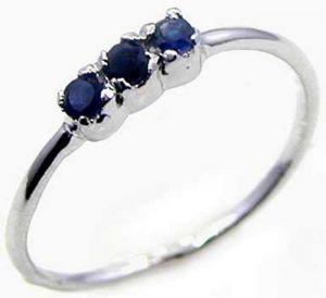 0.15ctw Genuine Sapphire Solid 925 Sterling Silver Gemstone Ring (SJR10210)