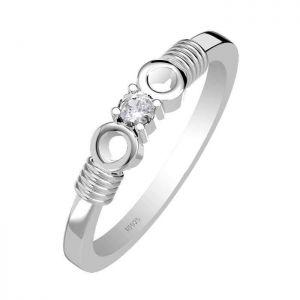 0.15ctw Genuine Aquamarine Solid 925 Sterling Silver Gemstone Ring (SJR10214)