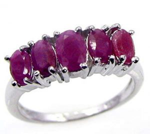 1.95ctw Genuine Ruby Solid 925 Sterling Silver Gemstone Ring (SJR10228)
