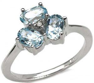 1.65ctw Genuine Sky Blue Topaz Solid 925 Sterling Silver Gemstone Ring (SJR10229)