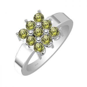 1.35ctw Genuine Peridot Solid 925 Sterling Silver Gemstone Ring (SJR10230)