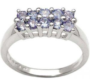 1.00ctw Genuine Tanzanite Solid 925 Sterling Silver Gemstone Ring (SJR10232)