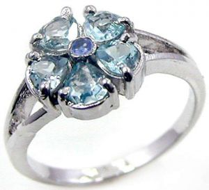 2.00ctw Genuine Sky Blue Topaz Solid 925 Sterling Silver Gemstone Ring (SJR10239)