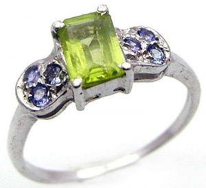 8.40ctw Genuine Peridot Solid 925 Sterling Silver Gemstone Ring (SJR10249)